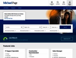 michaelpage.com screenshot