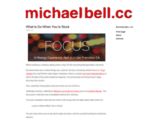 michaelsbell.com screenshot