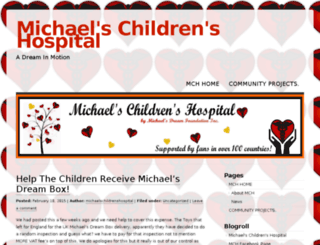 michaelschildrenshospital.wordpress.com screenshot