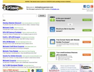 michaelscouponson.com screenshot