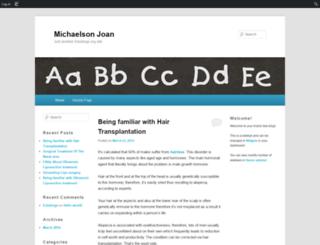 michaelsonjoan.edublogs.org screenshot