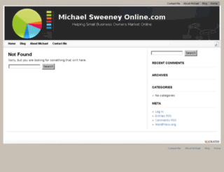 michaelsweeneyonline.com screenshot