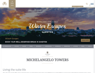 michelangelotowers.co.za screenshot