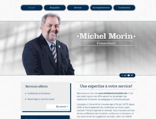 michelmorinconsultant.com screenshot