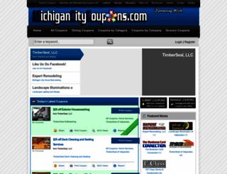 michigancitycoupons.com screenshot
