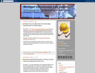michiganconstructionlaw.blogspot.com screenshot