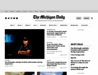 michigandaily.com screenshot