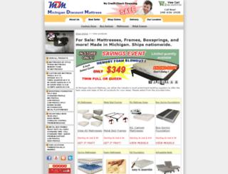michigandiscountmattress.com screenshot