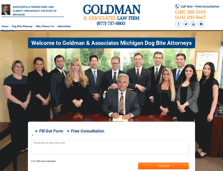 michigandogbite-lawyer.com screenshot