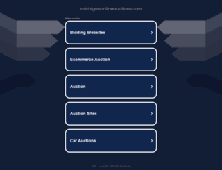michiganonlineauctions.com screenshot
