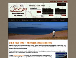 michigantrailmaps.com screenshot