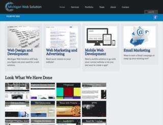 michiganwebsolution.com screenshot