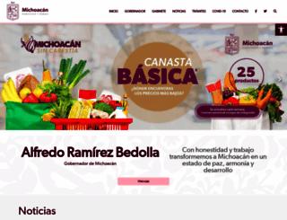 michoacan.gob.mx screenshot