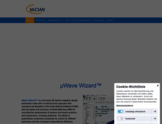 mician.com screenshot