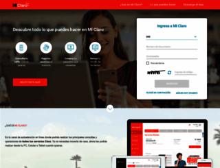 miclaro.com.pe screenshot