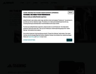 micoach.adidas.com screenshot