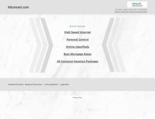miconcert.com screenshot