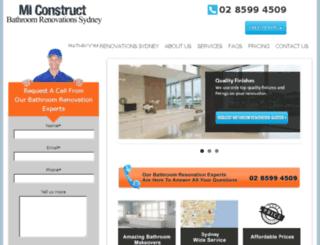 miconstruct.com.au screenshot