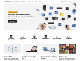 micorosft.com screenshot