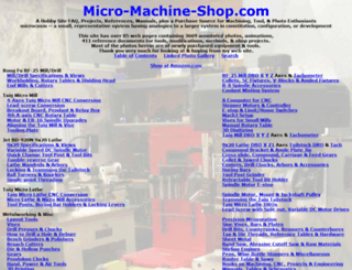 micro-machine-shop.com screenshot