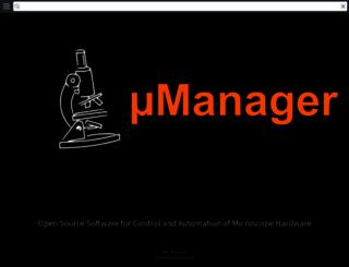 micro-manager.org screenshot