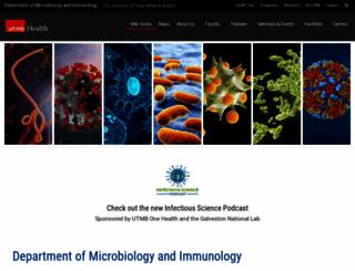 microbiology.utmb.edu screenshot