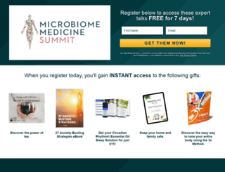 microbiomemedicinesummit.com screenshot