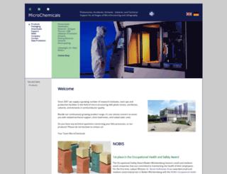 microchemicals.com screenshot