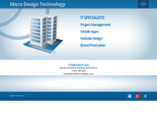 microdesign.co.za screenshot