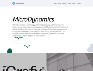 microdynamics.net.au screenshot