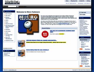 microfasteners.com screenshot