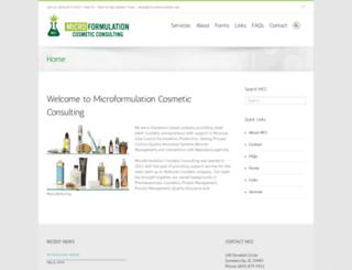 microformulation.com screenshot