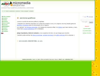 micromediaargentina.com.ar screenshot