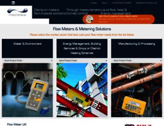 micronicsflowmeters.com screenshot