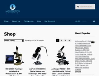 microscopesunlimited.com screenshot