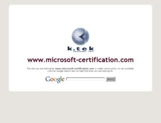 microsoft-certification.com screenshot