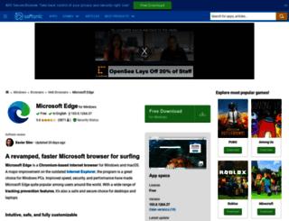 microsoft-edge.en.softonic.com screenshot