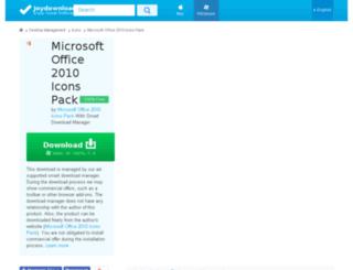 microsoft-office-2010-icons-pack.joydownload.com screenshot