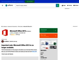 microsoft-office-2013.en.softonic.com screenshot