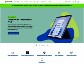 microsoft.com screenshot