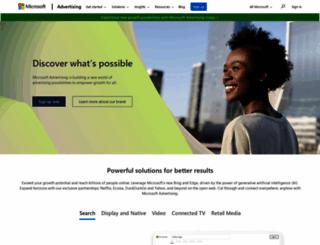 microsoftadvertising.com screenshot