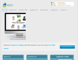 microsoftdynamicsonlinetraining.com screenshot