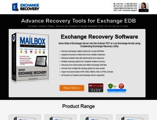 microsoftexchangerecovery.org screenshot
