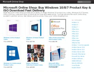 microsoftonlineshop.com screenshot