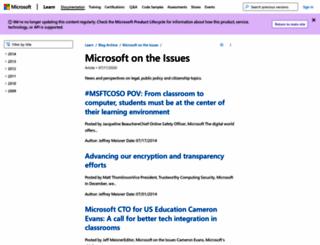 microsoftontheissues.com screenshot