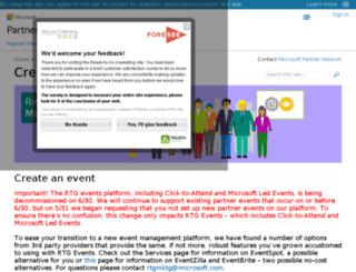 microsoftpartnerevents.com screenshot