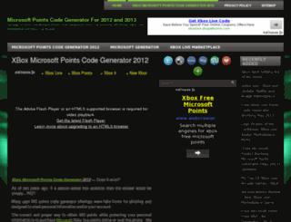 microsoftpointscodegenerator2012by.advosafety.com screenshot