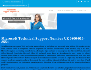 microsoftsupporthelpline.co.uk screenshot