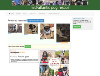 midatlanticpugrescue.org screenshot
