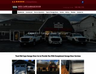 midcapegaragedoor.com screenshot